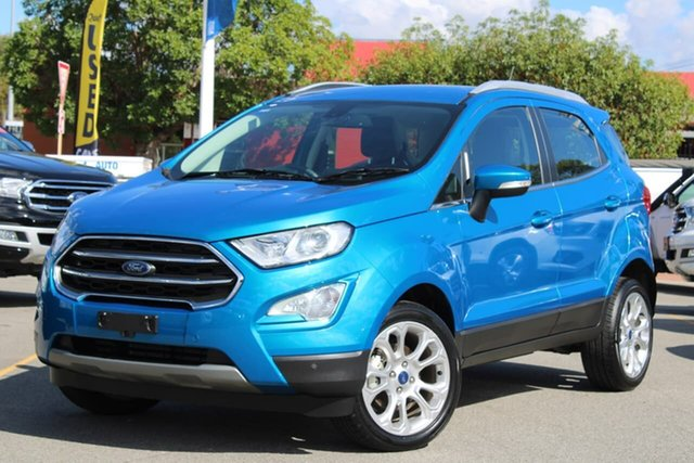 Used Ford Ecosport BL 2019.25MY Titanium, 2019 Ford Ecosport BL 2019.25MY Titanium Blue 6 Speed Automatic Wagon