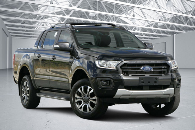 Used Ford Ranger PX MkIII MY19 Wildtrak 2.0 (4x4), 2018 Ford Ranger PX MkIII MY19 Wildtrak 2.0 (4x4) Absolute Black 10 Speed Automatic