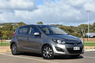 2012 Hyundai i20 PB MY12 Active Grey 5 Speed Manual Hatchback.