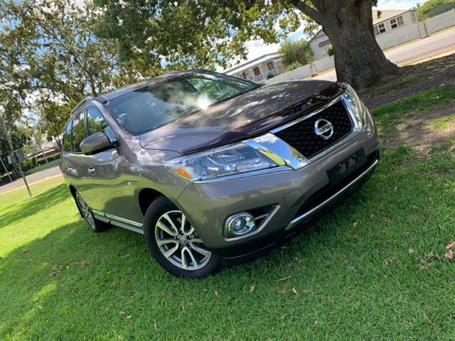 Used Nissan Pathfinder R52 MY14 ST-L X-tronic 2WD, 2013 Nissan Pathfinder R52 MY14 ST-L X-tronic 2WD River Stone 1 Speed Constant Variable Wagon