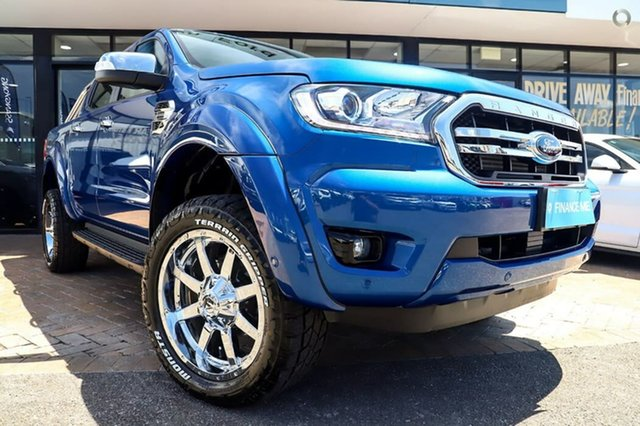 Used Ford Ranger PX MkIII 2019.00MY XLT Pick-up Double Cab, 2018 Ford Ranger PX MkIII 2019.00MY XLT Pick-up Double Cab Blue 10 Speed Sports Automatic Utility