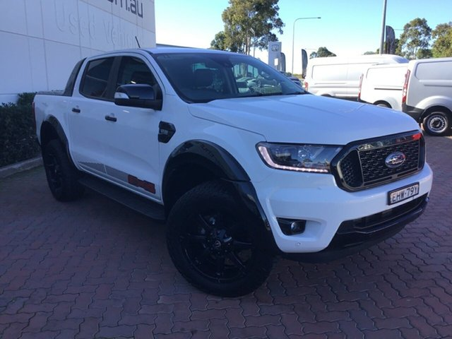 Demo Ford Ranger PX MkIII 2020.25MY FX4 Pick-up Double Cab, 2019 Ford Ranger PX MkIII 2020.25MY FX4 Pick-up Double Cab Arctic White 6 Speed Sports Automatic