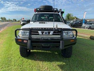 2003 Nissan Patrol GU III MY2003 ST White 4 Speed Automatic Wagon.