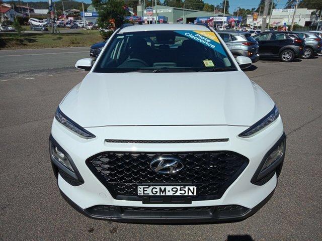 Demo Hyundai Kona OS.3 MY20 Active D-CT AWD, 2019 Hyundai Kona OS.3 MY20 Active D-CT AWD Chalk White 7 Speed Sports Automatic Dual Clutch Wagon
