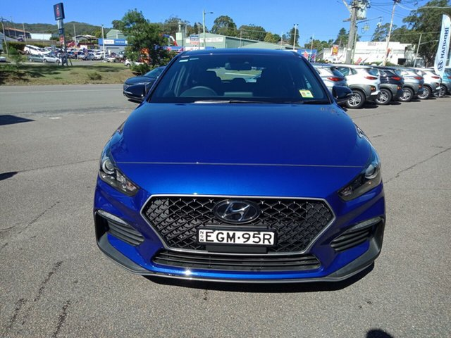 Demo Hyundai i30 PD.3 MY19 N Line D-CT, 2019 Hyundai i30 PD.3 MY19 N Line D-CT Intense Blue 7 Speed Sports Automatic Dual Clutch Hatchback