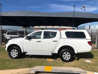 2014 Mitsubishi Triton MN MY14 Update GLX (4x4) White 5 Speed Manual 4x4 Double Cab Chassis