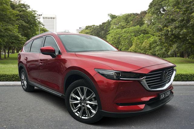 Used Mazda CX-8 KG4W2A Asaki SKYACTIV-Drive i-ACTIV AWD, 2018 Mazda CX-8 KG4W2A Asaki SKYACTIV-Drive i-ACTIV AWD Red 6 Speed Sports Automatic Wagon