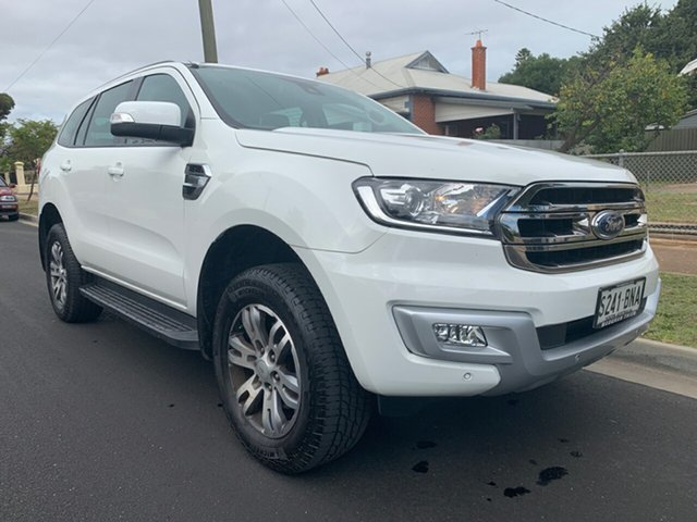 Used Ford Everest UA Trend RWD, 2016 Ford Everest UA Trend RWD Cool White 6 Speed Sports Automatic Wagon