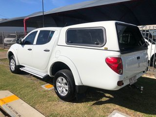 2014 Mitsubishi Triton MN MY14 Update GLX (4x4) White 5 Speed Manual 4x4 Double Cab Chassis.