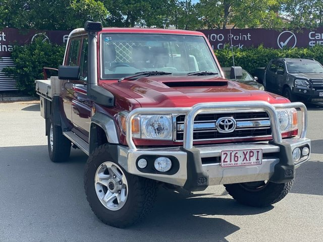 Used Toyota Landcruiser VDJ79R GXL Double Cab, 2016 Toyota Landcruiser VDJ79R GXL Double Cab Maroon 5 Speed Manual Cab Chassis