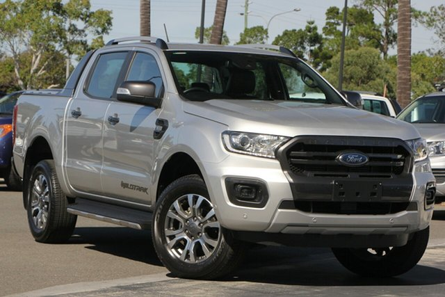 Used Ford Ranger PX MkIII 2019.00MY Wildtrak Pick-up Double Cab, 2018 Ford Ranger PX MkIII 2019.00MY Wildtrak Pick-up Double Cab Silver 6 Speed Manual Utility