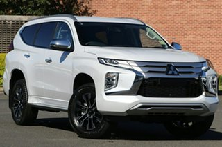 2020 Mitsubishi Pajero Sport QF MY20 Exceed White Diamond 8 Speed Sports Automatic Wagon.