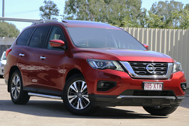Used Nissan Pathfinder R52 Series II MY17 ST-L X-tronic 2WD, 2017 Nissan Pathfinder R52 Series II MY17 ST-L X-tronic 2WD Cayenne Red 1 Speed Constant Variable
