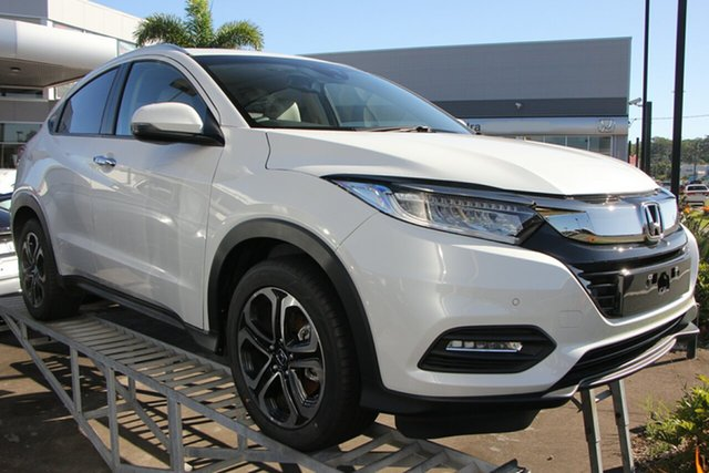 Demo Honda HR-V MY20 VTi-LX, 2019 Honda HR-V MY20 VTi-LX Platinum White 1 Speed Constant Variable Hatchback