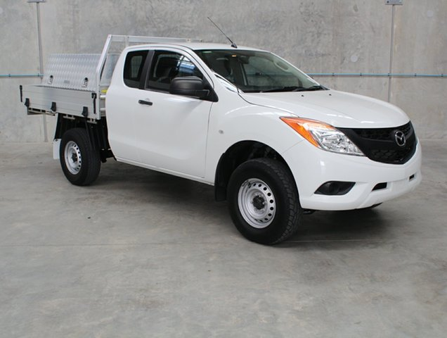 Used Mazda BT-50 UP0YF1 XT Freestyle 4x2 Hi-Rider, 2014 Mazda BT-50 UP0YF1 XT Freestyle 4x2 Hi-Rider White 6 speed Manual Cab Chassis
