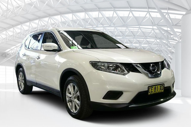Used Nissan X-Trail T32 ST (4x4), 2015 Nissan X-Trail T32 ST (4x4) White Diamond Continuous Variable Wagon