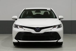 2018 Toyota Camry AXVH71R Ascent (Hybrid) White Continuous Variable Sedan.