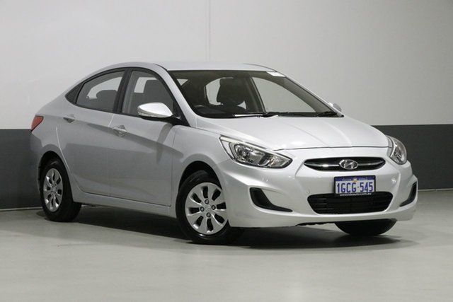 Demo Hyundai Accent RB3 MY16 Active, 2016 Hyundai Accent RB3 MY16 Active Silver 6 Speed CVT Auto Sequential Sedan