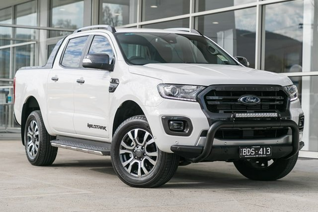 Used Ford Ranger PX MkIII 2019.75MY Wildtrak Pick-up Double Cab, 2019 Ford Ranger PX MkIII 2019.75MY Wildtrak Pick-up Double Cab White 10 Speed Sports Automatic
