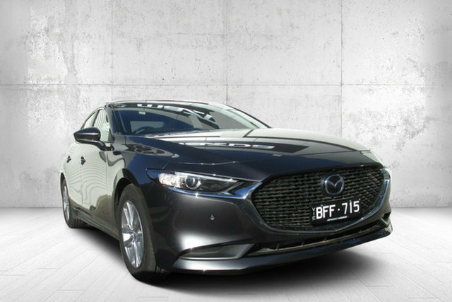 Demo Mazda 3 BP2S7A G20 SKYACTIV-Drive Pure, 2019 Mazda 3 BP2S7A G20 SKYACTIV-Drive Pure Grey 6 Speed Sports Automatic Sedan