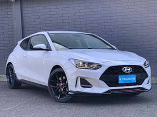2019 Hyundai Veloster JS MY20 Turbo Coupe Chalk White 6 Speed Manual Hatchback.
