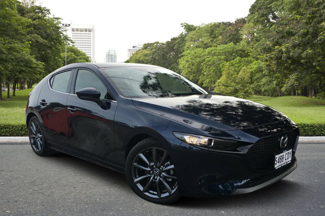 Demo Mazda 3 BP2H7A G20 SKYACTIV-Drive Touring, 2019 Mazda 3 BP2H7A G20 SKYACTIV-Drive Touring Deep Crystal Blue 6 Speed Sports Automatic Hatchback