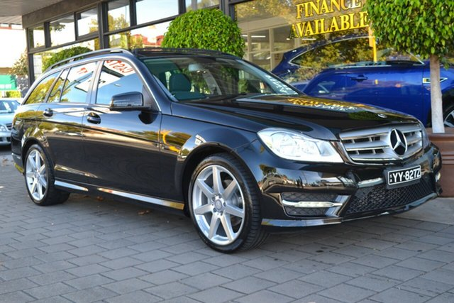 Used Mercedes-Benz C-Class W204 MY14 C200 Estate 7G-Tronic + Avantgarde, 2014 Mercedes-Benz C-Class W204 MY14 C200 Estate 7G-Tronic + Avantgarde Black 7 Speed