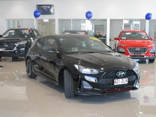 2019 Hyundai Veloster JS MY20 Turbo Coupe D-CT Phantom Black 7 Speed Sports Automatic Dual Clutch.
