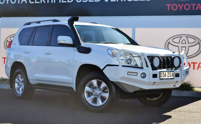 Used Toyota Landcruiser Prado KDJ150R 11 Upgrade GXL (4x4), 2013 Toyota Landcruiser Prado KDJ150R 11 Upgrade GXL (4x4) Glacier White 5 Speed Sequential Auto