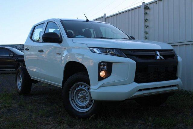 New Mitsubishi Triton MR MY20 GLX Double Cab, 2019 Mitsubishi Triton MR MY20 GLX Double Cab White 6 Speed Manual Cab Chassis