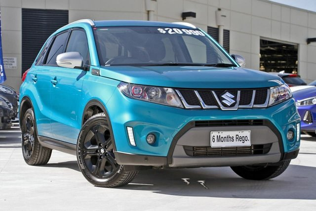 Used Suzuki Vitara LY S Turbo 2WD, 2017 Suzuki Vitara LY S Turbo 2WD Green 6 Speed Sports Automatic Wagon
