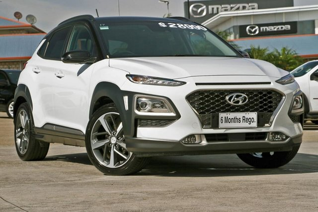 Used Hyundai Kona OS MY18 Highlander 2WD, 2017 Hyundai Kona OS MY18 Highlander 2WD White 6 Speed Sports Automatic Wagon