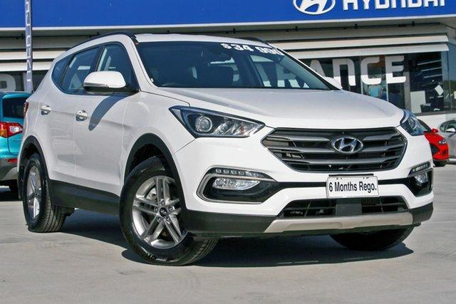 Used Hyundai Santa Fe DM5 MY18 Active, 2018 Hyundai Santa Fe DM5 MY18 Active White 6 Speed Sports Automatic Wagon