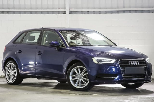 Used Audi A3 8V MY16 Attraction Sportback S Tronic, 2015 Audi A3 8V MY16 Attraction Sportback S Tronic Blue 7 Speed Sports Automatic Dual Clutch