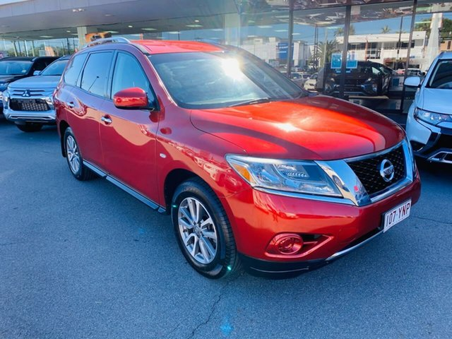 Used Nissan Pathfinder R52 MY14 ST X-tronic 2WD, 2013 Nissan Pathfinder R52 MY14 ST X-tronic 2WD Red 1 Speed Constant Variable Wagon
