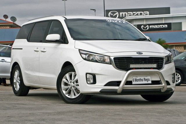 Used Kia Carnival YP MY15 SI, 2015 Kia Carnival YP MY15 SI White 6 Speed Sports Automatic Wagon