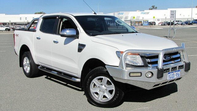 Used Ford Ranger PX XLT Double Cab, 2012 Ford Ranger PX XLT Double Cab White 6 Speed Sports Automatic Utility
