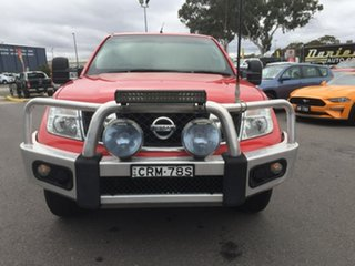 2013 Nissan Navara D40 S6 MY12 ST Red 5 Speed Sports Automatic Dual Cab Utility.