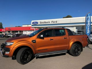 2016 Ford Ranger PX MkII Wildtrak Orange 6 Speed Sports Automatic Dual Cab Utility