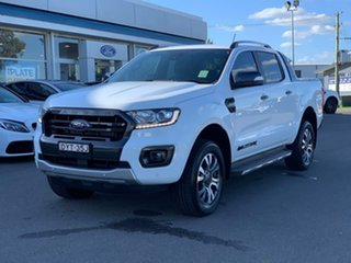 2018 Ford Ranger Wildtrak Frozen White Sports Automatic Dual Cab Utility.
