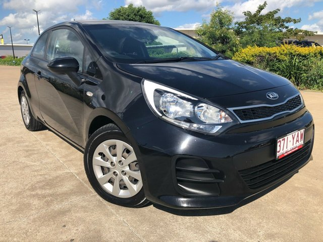 Used Kia Rio UB MY15 S, 2015 Kia Rio UB MY15 S Black 4 Speed Sports Automatic Hatchback