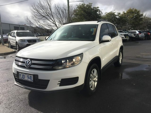 Used Volkswagen Tiguan 5N MY12.5 103TDI, 2012 Volkswagen Tiguan 5N MY12.5 103TDI White 6 Speed Manual Wagon