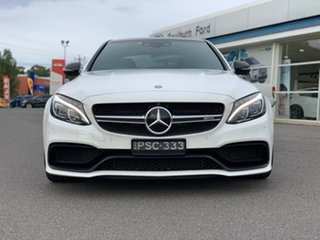 2016 Mercedes-Benz C-Class W205 807MY C63 AMG - S White 7 Speed Sports Automatic Sedan.
