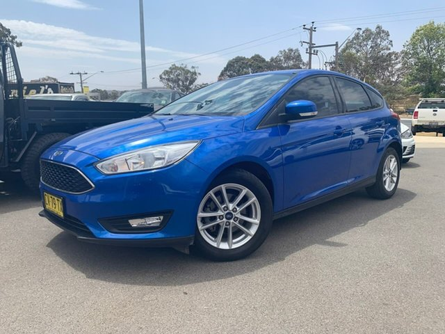 Used Ford Focus Trend Goulburn, 2017 Ford Focus Trend Blue Automatic Hatchback