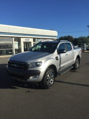 2018 Ford Ranger PX MkII 2018.00MY Wildtrak Silver 6 Speed Sports Automatic Dual Cab Utility.