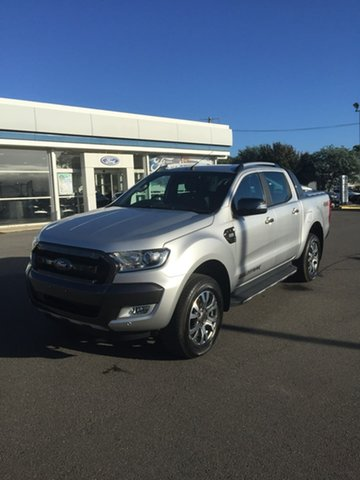 Used Ford Ranger PX MkII 2018.00MY Wildtrak Double Cab, 2018 Ford Ranger PX MkII 2018.00MY Wildtrak Silver 6 Speed Sports Automatic Dual Cab Utility