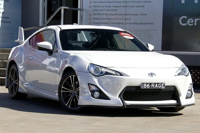 Used Toyota 86 ZN6 GTS, 2013 Toyota 86 ZN6 GTS Satin White Pearl 6 Speed Manual Coupe