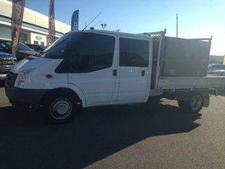 2010 Ford Transit VM EF LWB DBL C/C White 6 Speed Manual Cab Chassis - Dual Cab.
