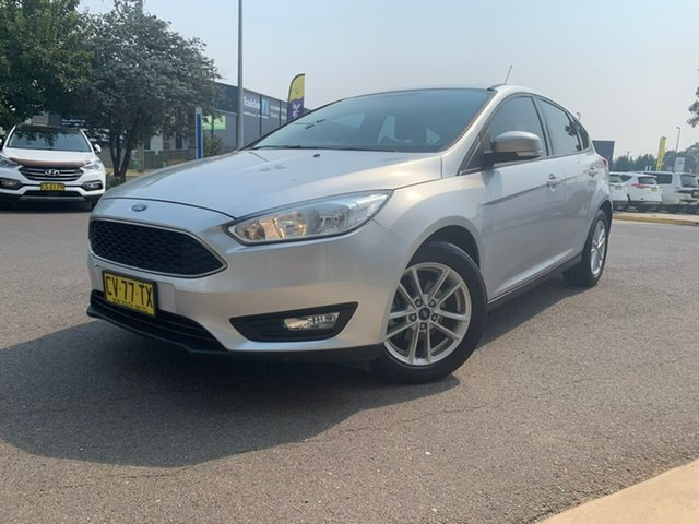Used Ford Focus LZ Trend Goulburn, 2016 Ford Focus LZ Trend Silver 6 Speed Automatic Hatchback