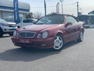2001 Mercedes-Benz CLK-Class A208 CLK230 Kompressor - Elegance Red 5 Speed Automatic Cabriolet.